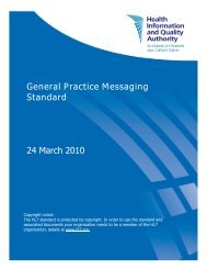 Read the General Practice Messaging Standard - hiqa.ie