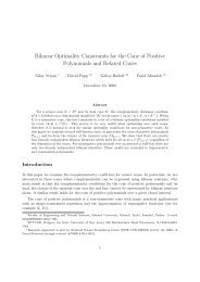 Bilinear Optimality Constraints for the Cone of ... - ResearchGate