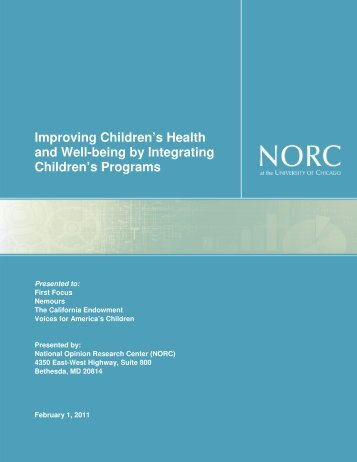 Improving Children's Health and Well-being by ... - Nemours
