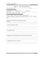 Figure 7.3 Safety Meeting Sign-In Sheet Safety Meeting Presenter ...