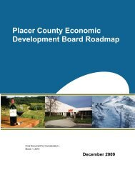 Placer County Economic Development Board ... - PlacerSustain