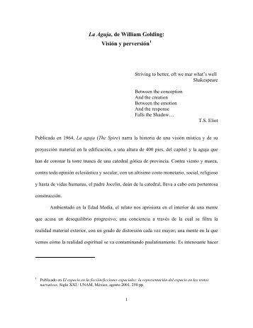 La Aguja, de William Golding: - Luz Aurora Pimentel - Universidad ...