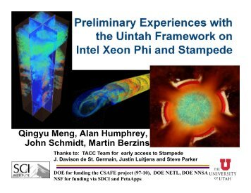 Preliminary Experiences with the Uintah Framework on on ... - XSEDE