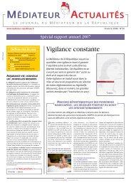 N°34 - Spécial rapport 2007 ( PDF - 2.3Mo ) - Le Défenseur des Droits