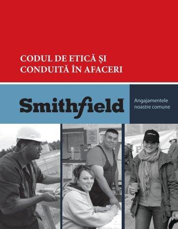 Codul de etică şi conduita în afaceri - Smithfield