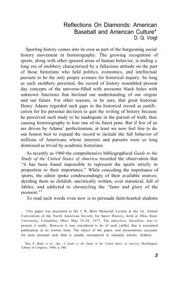 Journal of Sport History Vol.1 No.1 - American Studies @ The ...