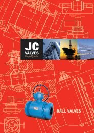 BALL VALVES - JC valves