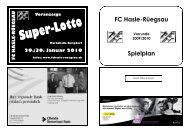FC Hasle-Rüegsau Spielplan