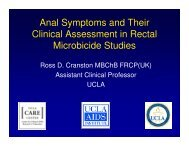 Anal Symptoms and Their Clinical Assessment in Rectal Microbicide ...