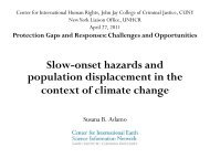 Slow-onset hazards and population displacement in the context of ...