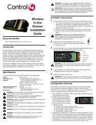 Wireless In-line Dimmer Installation Guide - Control4