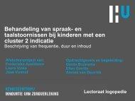 Behandeling van spraak- en taalstoornissen bij ... - Logopedie.nl