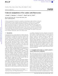 Coherent manipulation of free amino acids ... - NCCR MUST