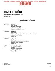 DANIEL BRIÈRE - Agence Goodwin