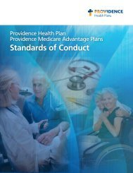Providence Health Plan Medicare Advantage Standards of Conduct ...
