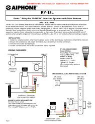 AIPHONE RY-18L Door Rlease Relay Module RY18L - Lee Dan ...