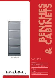 benches & cabinets - Sebel