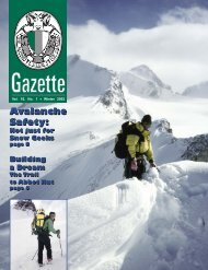Avalanche Safety: Avalanche Safety: - The Alpine Club of Canada