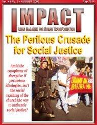 Php 70.00 Vol. 43 No. 8 • AUGUST 2009 - IMPACT Magazine Online!