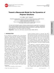Toward a Mesoscale Model for the Dynamics of Polymer Solutions