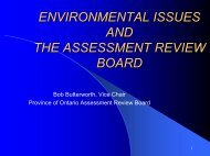 environmental issues and the assessment review ... - Ccat-ctac.org