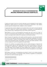 Les matières premières agricoles essentielles - BNP Paribas