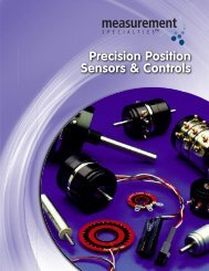 New Position Sensor Catalog - Spectrum Sensors & Controls