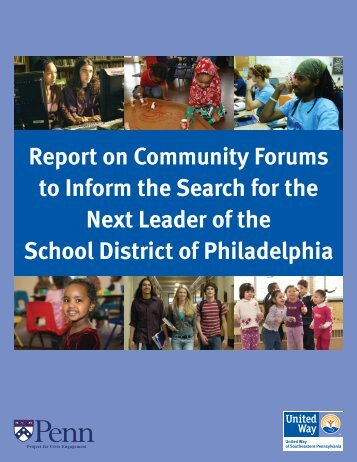 Philadelphia School District Superintendent Search - United Way