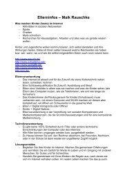 Elterninfos – Maik Rauschke - wob4u.de
