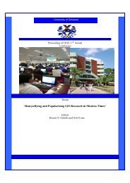 the Proceedings - Department of Information Studies