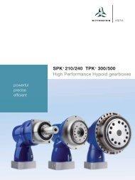 SPK+ 210/240 TPK+ 300/500 - WITTENSTEIN alpha