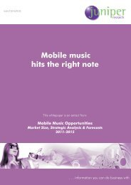Mobile music hits the right note 1.1 Introduction - Juniper Research