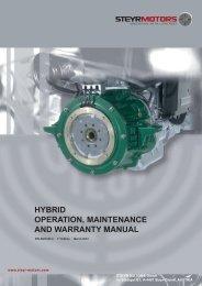hybrid operation, maintenance and warranty manual - Steyr Motors
