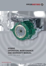 hybrid operation, maintenance and warranty manual - Steyr Motors