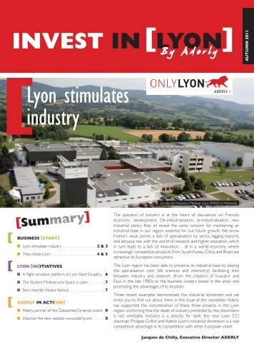 Lyon stimulates industry - Aderly