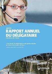 Rapport délégataire sur l'eau potable 2012 - Mairie de Cestas