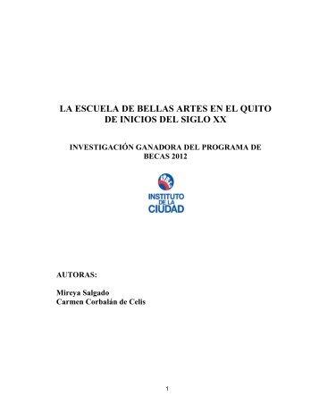 La Escuela de Bellas Artes de Quito: - Instituto de la Ciudad