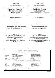 Sénat et Chambre des représentants de Belgique Belgische Senaat ...