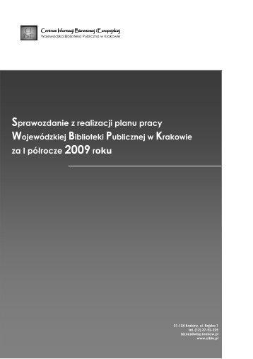 sprawozdanie cibie I 2009 na stronei - Centrum Informacji ...