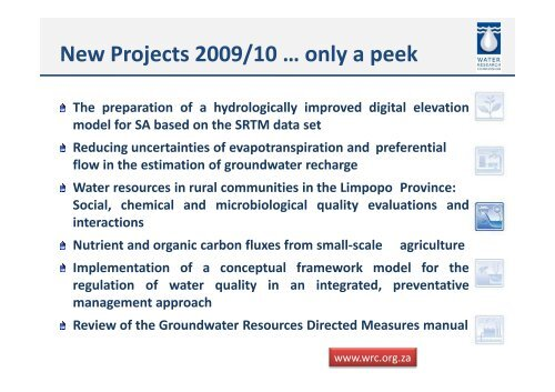 to view Dr Shafick Adam's presentation - Water Research Commission
