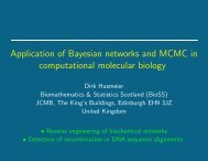 Application of Bayesian networks and MCMC in computational ...