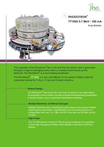 RHODOTRON® TT1000 5-7 MeV - 100 mA - IBA Industrial
