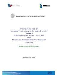 stan na koniec czerwca 2010 r. - Ministerstwo Rozwoju Regionalnego
