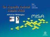 SA Aquatic Animal Health R&D (.PDF) - MISA