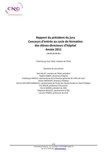 Rapport du président du jury Concours d'entrée au cycle de ... - CNG