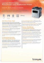 Lexmark MX410 Series Monochrome Laser Multifunction Printer