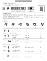 Pedestals (528 Ko) - 1st Choice Office Furniture Ltd