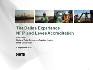 The Dallas Experience NFIP and Levee Accreditation - NORFMA