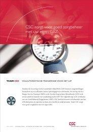 CSC zorgt voor goed zorgbeheer met uw eigen GBZ
