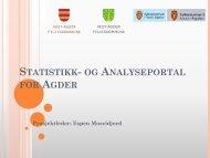 Statistikk- og Analyseportal for Agder - Aust-Agder fylkeskommune
